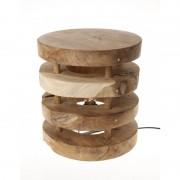 Lampara taburete en madera de teca natural casa de hoy