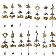 ELECTROPRIME® Chinese Carp Fish Copper Bell Lucky Feng Shui Hanging Wind Chime 3 Bells