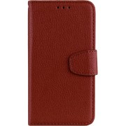 Mobigear Litchi Leather Wallet Book Case Bruin Huawei Mate 20 Pro