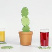 Suck UK Cactus Onderzetters (Set Van 6) - Suck UK
