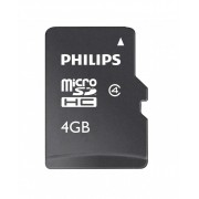 Card memorie Micro SDHC, cu adaptor SD, clasa 10, PHILIPS - 4GB