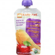 Happy Tot Baby Food - Organic - Apple and Butternut Squash - Stage 4 - 4.22 oz - Case of 16