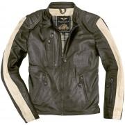 Black-Cafe London Vintage Motorcycle Leather Jacket Green 56