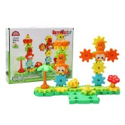 MoFun TS5303A-2 Amusement Park DIY Rotating Gear Block Toy Gift Assembly Blocks Set 54PCS Toys