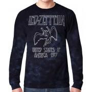 Muška metal majica Led Zeppelin - USA TOUR '77 - LIQUID BLUE - 12814