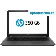 "Laptop HP 250 G6 (Procesor Intel® Core™ i3-6006U (3M Cache, up to 2.00 GHz), Kaby Lake, 15.6"" HD, 4GB, 256GB SSD, Intel® HD Graphics 520, Wireless AC, Argintiu-Cenusiu) + Mouse Microsoft Wireless Mobile 1850, editie Business (Negru)"