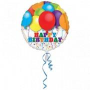 Balon folie Happy Birthday Balloons