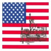 Geen Servetten met Amerikaanse vlag