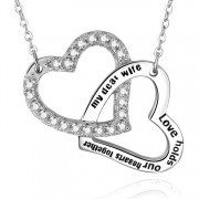Colier Personalizat Argint 925 My dear wife love holds our hearts together