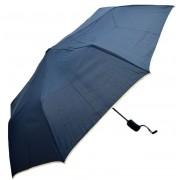 Umbrela Pliabila ICONIC Automata, Bleumarin cu margini bej, Ø110cm, articulatii anti-vant