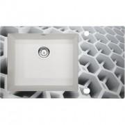 Capella Dimension üveg-gránit mosogató - fózolt 86x50x20 cm, metálfekete