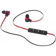 Casti Stereo Wireless Kruger&Matz KMP70BT, Bluetooth, Multi Point, Microfon (Negru/Rosu)