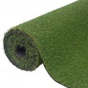 vidaXL Изкуствена трева, 1x8 м / 20-25 мм, зелена