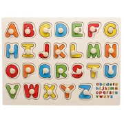 Joyeee 26 Pcs Creative Classic Wooden EducationalAlphabet ABC Matching Pegged Puzzles for Kids - Perfect Christmas Gift Idea