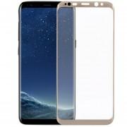 Louiwill Protector De Pantalla Galaxy S8, Pantalla Completa Protector De Pantalla De Cristal Templado Para Samsung Galaxy S8 Con Burbuja Anti-huella Digital Gratuita Y Anti-arañazos, Oro