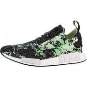 adidas NMD_R1 Primeknit Men's Shoes Core Black/Cloud White/Aero Green bb7996 (10 D(M) US)