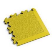 Žlutý vinylový plastový rohový nájezd 2026 (kůže), Fortelock - délka 14 cm, šířka 14 cm a výška 0,7 cm