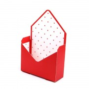 Cutii tip plic - roșu (set 12 buc)