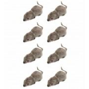 Ratones Flocados 5 cms set 8