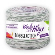 Woolly Hugs Bobbel Cotton von Woolly Hugs, Color/Weiss/Lila/Fuchsia/Bleu/Hellgrau