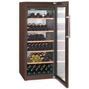Vitrina pentru vinuri Liebherr WKt 4552, 435 L, 201 sticle, Rafturi lemn, Control taste, Display, H 165 cm, Clasa A+, Culoare Terra