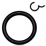 Helix piercing titanium ring zwart