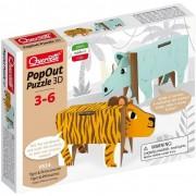 Quercetti gioco di costruzioni pop out 3d animals tigre & rinoceronte 0514