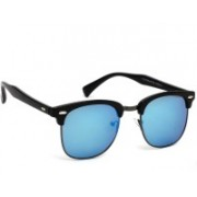 Eyeland Clubmaster Sunglasses(Blue, Multicolor)