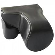 Bolsa de piel de cuero de la PU para Sony NEX-7 / A6000 camara - negro