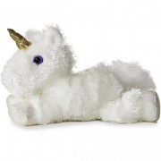 Mini Flopsie fehér unikornis 20 cm Aurora