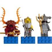 LEGO Crab Warrior Hammer Head Guardian and Diver Atlantis Magnet Set 853087