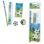 Set 5 piezas papelería fútbol de regalo