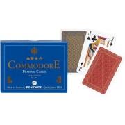 Carti de joc Commodore Blue double deck