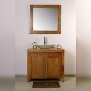 Saniteck Meuble salle de bain teck 90 grey naturel