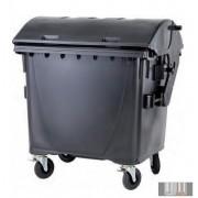 Külső hulladéktároló, Gömbölyű fedelű műanyag konténer - 1100 L