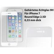 Somikon Display-Schutzglas für iPhone 7, Premium-3D-Hartglas 9H, weiss