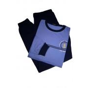 Vintage pyžamo s dlouhým rukávem AH7815-0 M modrá