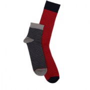 Soxytoes Multi-Coloured Cotton Ankle Length Pack of 2 Pairs Unisex Casual Socks (SOSN0121)