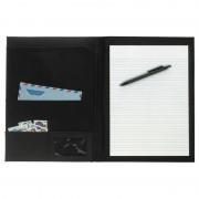 Geen Luxe A4 schrijfmap/notitiemap zwart 33 x 24 cm