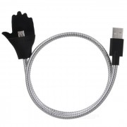 Soporte creativo USB 2.0 a V8 interfaz cable de datos - plata (57cm)