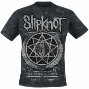 Slipknot Blurry Allover Herren-T-Shirt - schwarz - Offizielles Merchandise