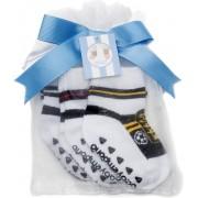 Baby Emporio- 3 paar Voetbal sokjes- (rood,geel,zwart) voor baby 0-12 maanden-Anti slip zooltjes-Kraamcadeau-Baby shower-Cadeau zakje