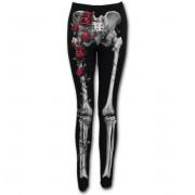 pantalon femmes (leggings) SPIRAL - ROSE BONES - Noir - K044G456