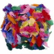 Geen 100 gram decoratieveren gekleurd Multi