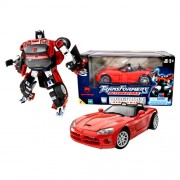 Hasbro Year 2003 Transformers Alternators Series 7 Inch Tall Robot Action Figure Autobot Side Swipe With Blaster (Vehicle Mode 1:24 Scale Red Dodge Viper)