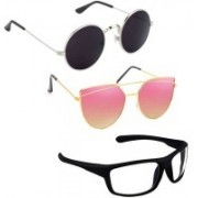 Vitoria Round, Cat-eye, Wrap-around Sunglasses(Multicolor)