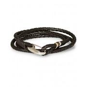 Paul Smith Leather Wrap Bracelet Brown