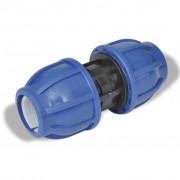 vidaXL PE ravna spojnica za crijevo, 16 Bar, 25 mm, 2 kom