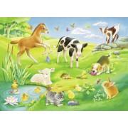 Пазл - «Малыши животных на лугу» 16 шт