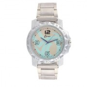 miss perfect Ismart Analogous Collection Blue Print Metal Sliver Is7 Men Watch Watch - For Men